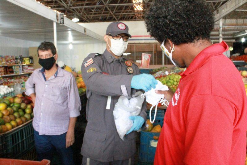1 Mil Máscaras São Distribuídas No Mercado Do Ogunjá Nesta Sexta-feira