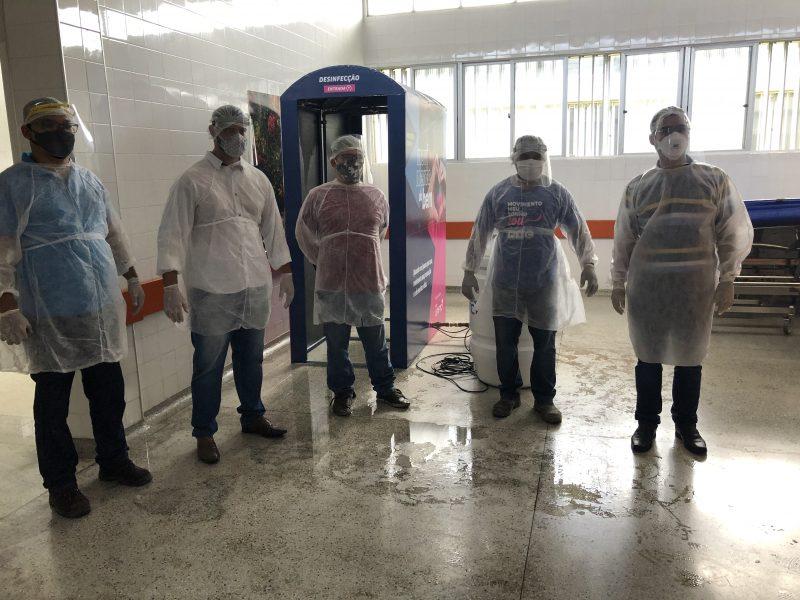 UniFTC Doa Cabine Desinfectante   Para Hospital De Base De Itabuna