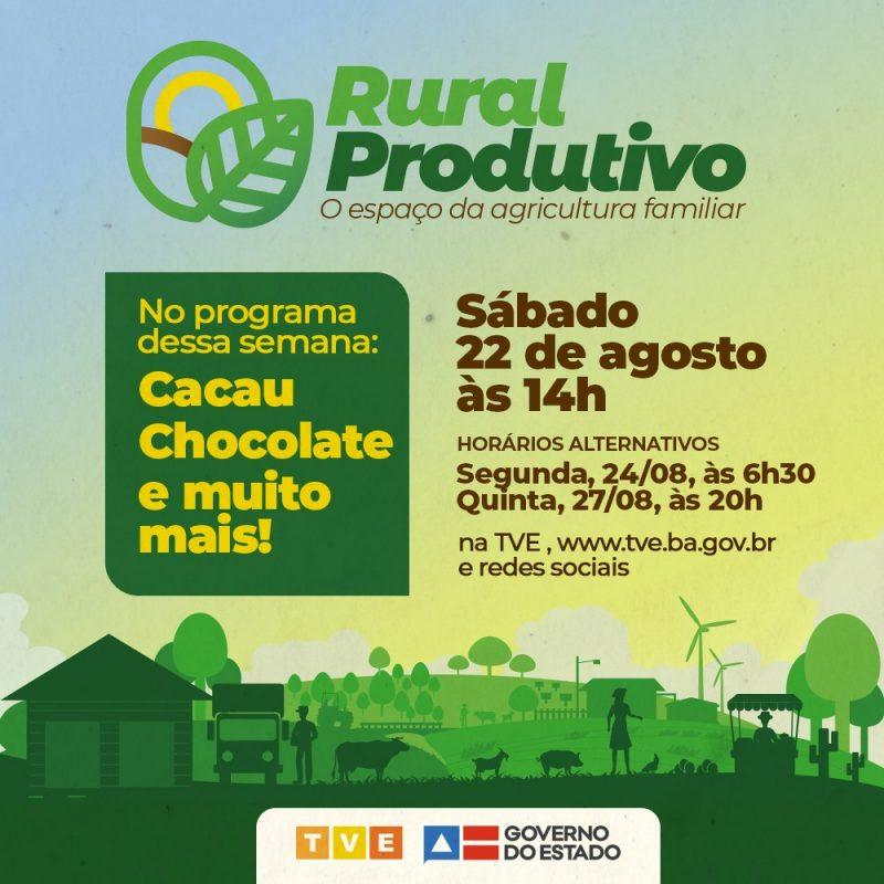 Cacau E Mandioca São Destaques No Rural Produtivo Na TVE