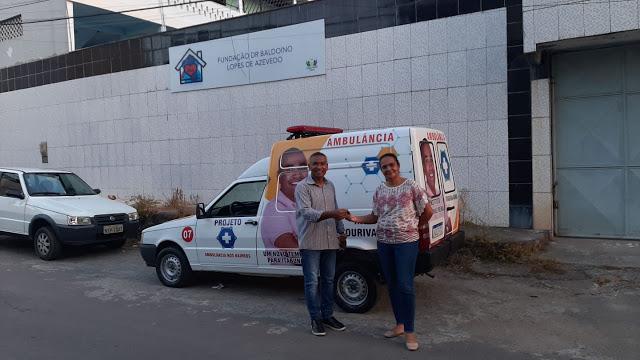 Instituto Lourival Vieira Entrega Mais Uma Ambulância à Instituição Filantrópica