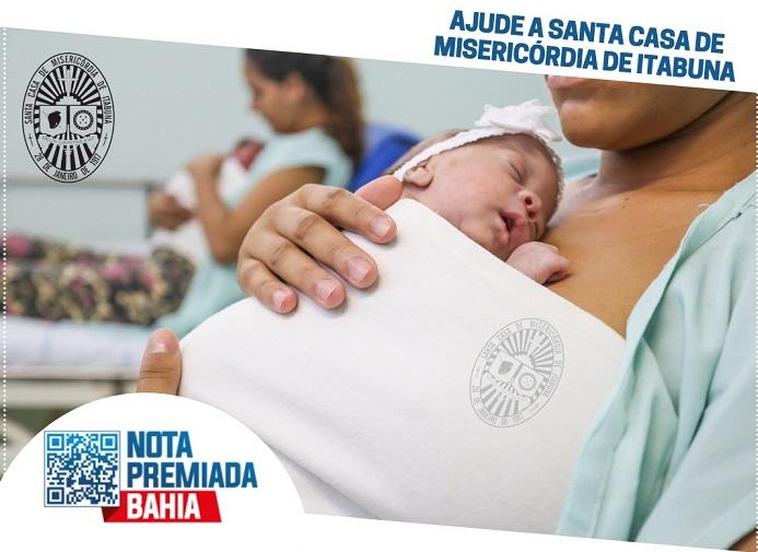 UM DOS GANHADORES DA NOTA PREMIADA  BAHIA INDICOU A SANTA CASA DE ITABUNA