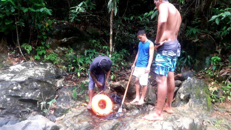 Prefeitura De Itacaré Implanta Boias De Segurança Na Cachoeira Do Jeribucaçu