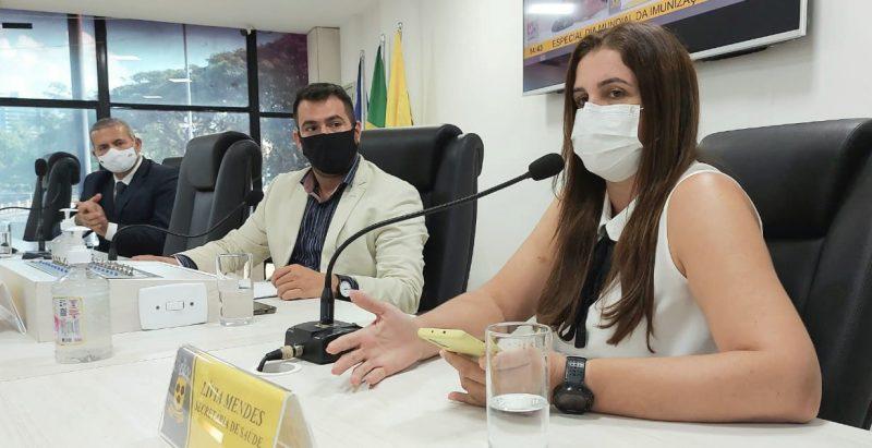 Secretária De Saúde Participa De Sessão Especial Da Câmara Municipal Alusiva Ao Dia Da Imunização