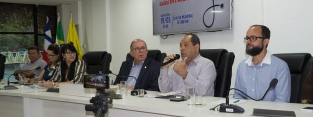 Secretário Uildson Nascimento fala sobre a saúde  em Itabuna durante audiência pública da AL-BA