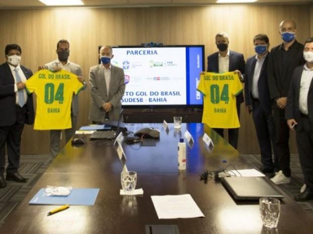 Projeto Gol do Brasil vai beneficiar centenas de crianças e jovens da Bahia